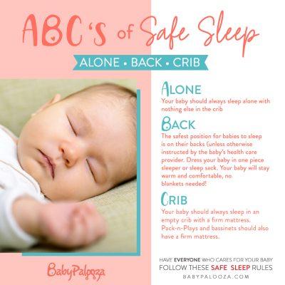 Safe Sleep infographic
