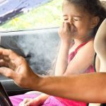Parent smoking in cars with children present